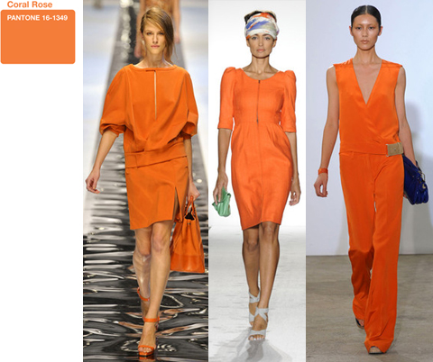 Pantone Coral Rose Orange on the Spring 2011 Runway