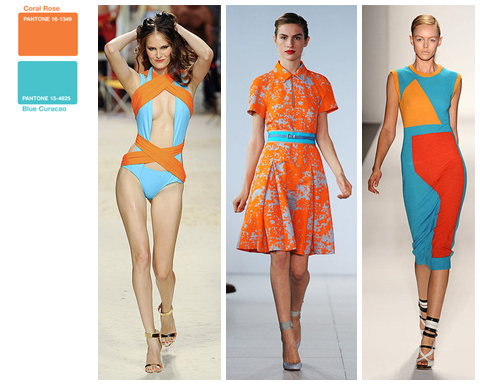 Spring 2011 Runway Color Combinations: Orange and Turquoise