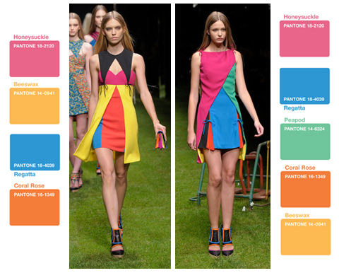 Pantone Colors Versus Spring 2011 Runway Collection