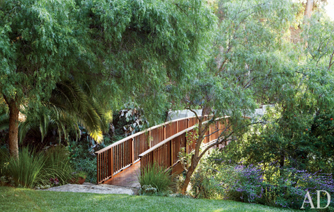 Sheryl Crow's Arched Bridge in March 2011's Architectural Digest