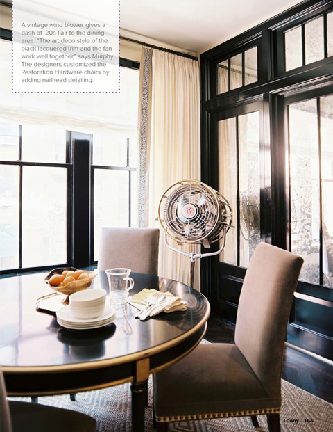 White Walls With Black Trim Dining Room In Lonny Magazine