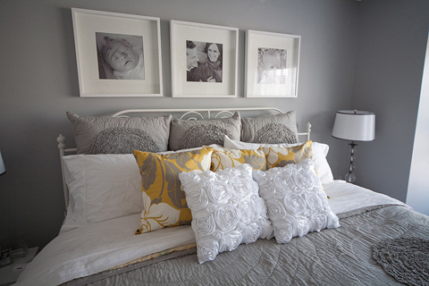 Nathan Walker's Bedroom Makeover in Gray and Yellow