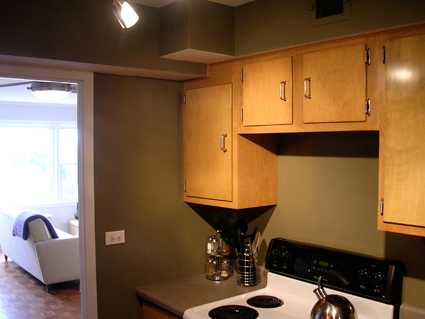 Grove Street Condo Kitchen Cabinets