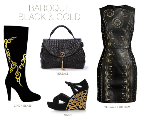 Fall 2011 Fashion Trend: Baroque Black and Gold