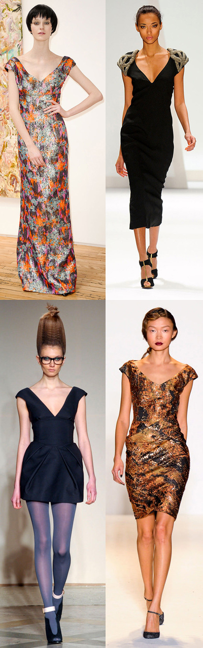 Fall 2011 Runway Fashion Trend: Dresses with Wide-V Necklines