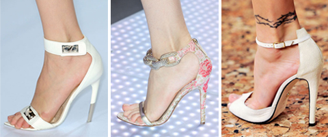 ff61f001d535ba Spring 2012 Runway Fashion Trend  Stilettos with One Ankle Strap