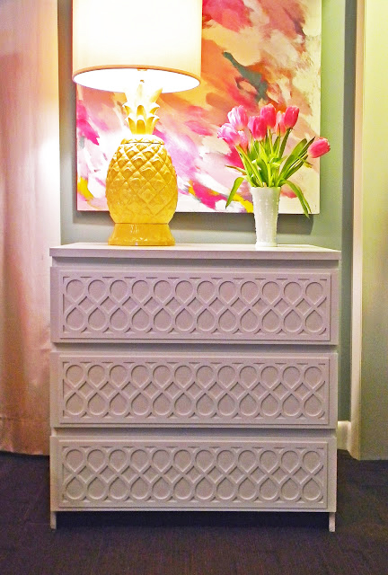 Fiona Fretwork Pattern on IKEA Malm Dresser from myoverlays.com
