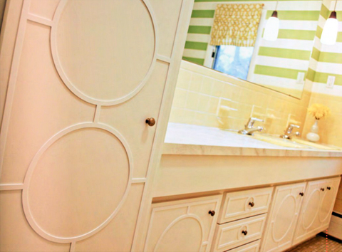 Grace Fretwork Pattern on Bathroom Cabinets from myoverlays.com