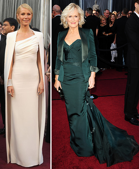 Academy Awards 2012 Gwyneth Paltrow and Glenn Close