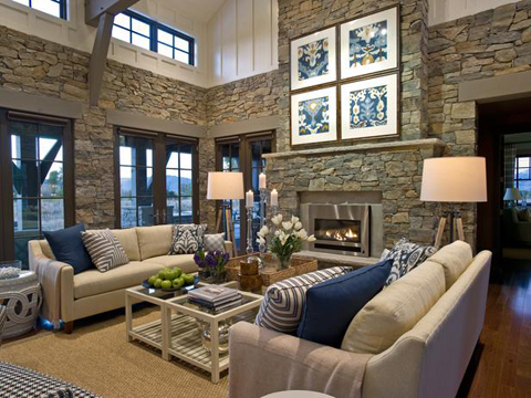 HGTV Dream Home 2012 Great Room Stone Walls