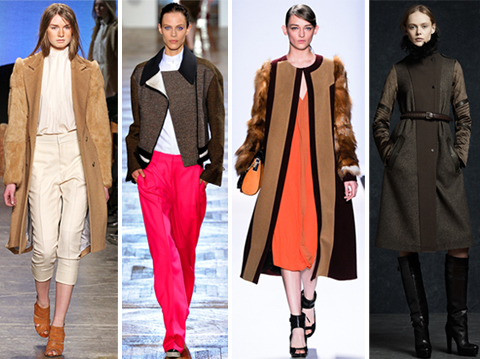 Fall 2012 Runway Fashion Trend: Coats with Contrast Sleeves