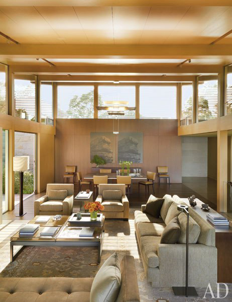 Austin Hillside House, Texas Modernism by Lake | Flato Architects: Living/Dining Room