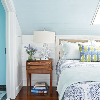 coastal living colorful key west cottage master bedroom - Key West Style Home Decor