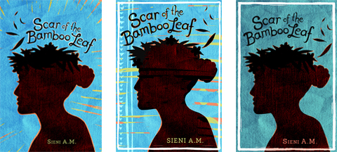 Scar of the Bamboo Leaf by Sieni A.M. Cover Design Drafts in Blue