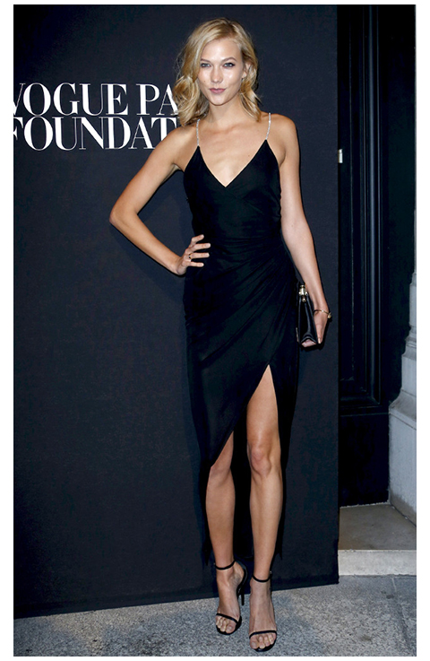 Karlie Kloss July 11, 2014 Vogue Foundation Gala Little Black Dress