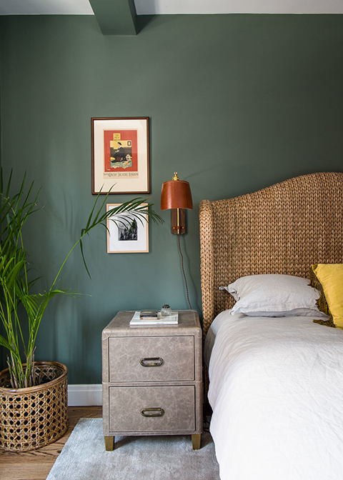 Homepolish Bedroom by Tali Roth in Benjamin Moore Carolina Gull