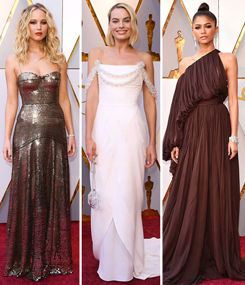 Academy Awards 2018 Red Carpet Fashion: Jennifer Lawrence, Margot Robie, Zendaya